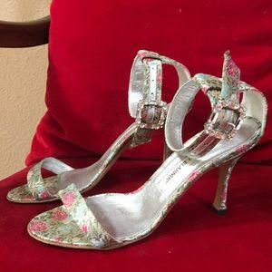 Manolo Blahnik crystal buckle sandals